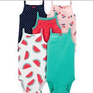 5 Pack Sleeveless Summer Bodysuit